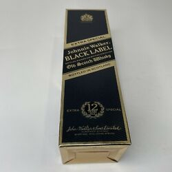 Vintage 1970's Johnnie Walker Black Label 12 Year Old Extra Special Empty Box