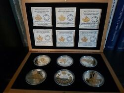 Silver Gold-plated 6-coin Set - Legacy Of The Nickel 2015 0.9999 Fine 6 Oz.