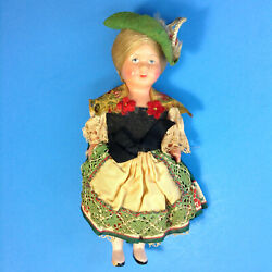 Vintage Molland039s Trachten Puppen Celluloid Doll With Tag