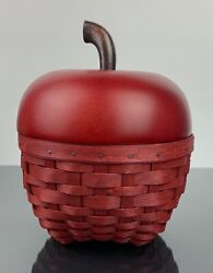 Longaberger Apple Basket Collectors Club Mint Condition Hard To Find