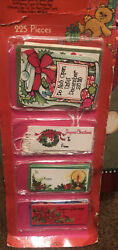 Nip Vintage Gibson Christmas Gift Tags Glitter Whimsey Cards Die-cuts 225 Total