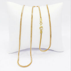 22k Solid Yellow White Gold Franco Chain Necklace Round 22.25 2mm Hallmark 916