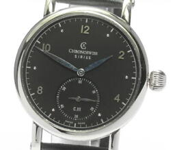 Chronoswiss Sirius Small Seconds Black Dial Automatic Menand039s Watch_611308