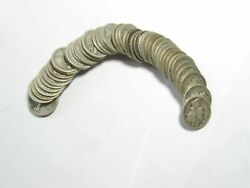 Roll Of 50 Mercury Silver Dimes 1945 D Tough Date Good To Vf