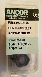 New Old Stock Ancor Panel Mount Fuse Holder 1.5 Amps 607010 Agc / Mdl