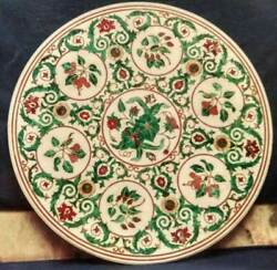 3and039x3and039 Marble Table Top Center Coffee Pietra Dura Antique Home Decor Inlay W171