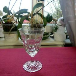Glass To Wine White Or Porto Crystal Carved Daum Signed