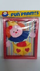 Vintage Wooltex Jack In The Box Fun Frames Fabric Picture Baby Kids Room Decor