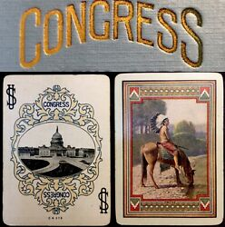 Historic Apache Antique Playing Cards Congress 606 Native American Indian Deck