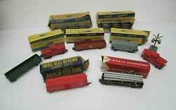 Vtg Assorted Lot 7 Gilbert American Flyer S Scale Model Train Cars And Tracks