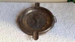 Antique Old Ashtray Portuguese Silver Sterling Bowl Of Hygieia Pharmacy Symbol