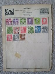 Denmark Vintage Stamp Collection - Extracted From Stanley Gibbons Album 29th