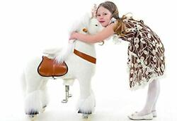 Pony Cycle White Unicorn Ride On Toy 2 Sizes Worldand039s First Simulated Riding