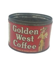 Golden West Coffee Can Cowgirl1 Lb Western Ben Hur Closset And Devers No Lid