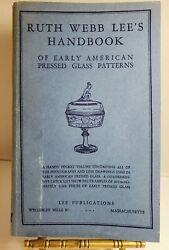 Handbook Of Early American Pressed Glass Patterns Ruth W. Lee 20th Printing 1964
