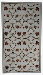 4and039x2and039 Marble Table Top Coffee Semi Precious Antique Inlay Home Pietra Dura W203