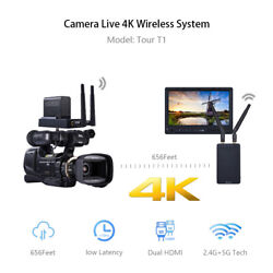 Wireless 4k Hdmi Audio Video Adapter Receiver Transmitter Kit For Live Streaming