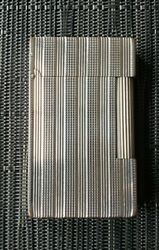 St Dupont Ligne 2 Palladium Plated Vertical Lines/diamond Cut Pattern Serviced