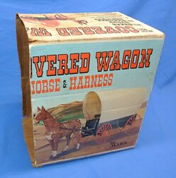 Marx Johnny West Vintage Covered Wagon With Horse And Harness Box Only