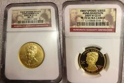 2009 Anna Harrison First Spouse Ngc Pf70 Pr70 Ms70 Low Mintage Free Shipping