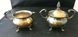 Vintage Bristol Silverplate Sugar And Creamer Bowls By Poole 110