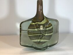 Authentic Piece Of Mdina Glass The Ever Popular Fish/axe Vase. Mint.