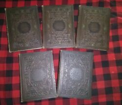 1929andnbsp Antique Raised Leather Comptons Illustrated Encyclopedia 246910
