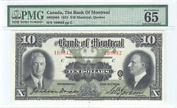 ✪ 1931 10 The Bank Of Montreal Canada - Pmg Unc 65 - Large Size