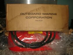 Vintage Omc Belgium Outboard 3 Gallon Red Metal Gas Tank Nos New In Box Wow