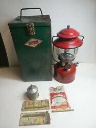 Vintage Coleman Red Lantern Model 200a Dated 3/1963 W/ Case Parts/repair