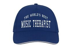 Worldand039s Best Music Therapist Baseball Hat Cap Gift Therapy Doctor Psychologist