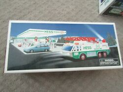 1996 Hess Emergency Truck New In Box Complete Ladder Truck Lights