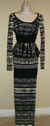 Stunning New 3-piece Jean Paul Gaultier Black Print Mesh Skirt And Two Tops