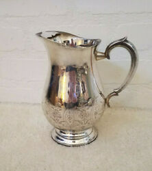 Vintage Silver Plated Leonard E.p.n.s.a1 Water Pitcher