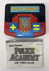 1989 Tiger Electronics Lcd Handheld Rare Police Academy Game - Tested And Working