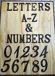 Letters Numbers Cast Iron Metal Street House Apt Address Wall Sign Antique Style