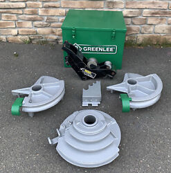Greenlee 555 Hydraulic Pipe Bender 1/2andrdquo-2andrdquo Emt Shoes And Rollers Nice Shape 2