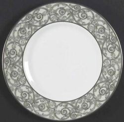 Waterford China Carina Platinum 9 Accent Salad Plate - Discontinued