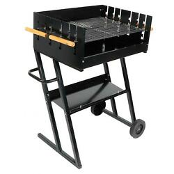 Steel Adjustable Height Bbq Grill Roasting Machine Charcoal Grill Home Supplies.