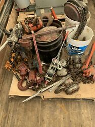 20 Chain Falls / Ratchet Come Alongs / Hand Tuggers - Used