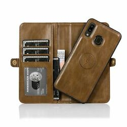 Leather Wallet Flip Magnetic Back Cover Case Fr Samsung A10 A20 A30 A40 A70 A50