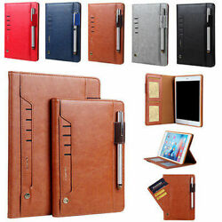 Leather Wallet Flip Magnetic Back Cover Case For Samsung Galaxy Tab Models