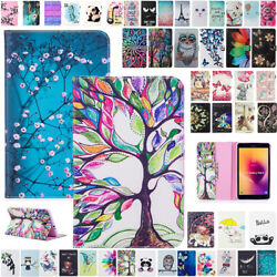 Leather Wallet Flip Magnetic Back Cover Case For Samsung Tab Sm-t350 T380 T590