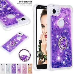 For Google Pixel 3 3xl 3axl Shockproof Glitter Soft Rubber Ring Stand Case Cover