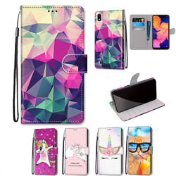 For Samsung Galaxy A10 A10s A20e A20s Case Pattern Wallet Leather Stand Cover