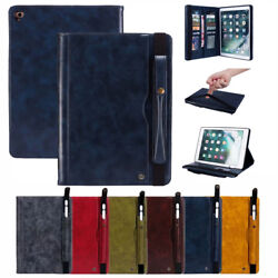For Apple Ipad Pro 1112.92018 Pen Slot Leather Wallet Stand Card Case Cover