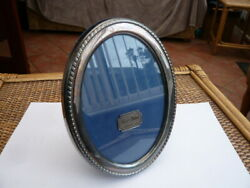 Good Vintage Quality Sheffield Silver Plated Oval Photo Picture Frame Unused
