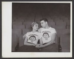 Mad Magazine 40 - Original Bandw Photo Of Mad T-shirt Ad With Teen Couple