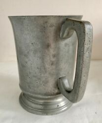 Sanders And Sons London Antique Pewter 1 Pint Tankard Mug 19th Century Signed