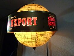 Heileman's Special Export Beer Lighted Rotating Globe Beer Sconce. Lot2